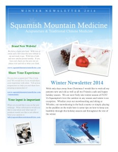 Winter Newsletter 2014 page 1