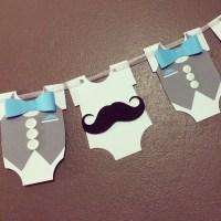 Little Man Mustache And Bow Tie Banner