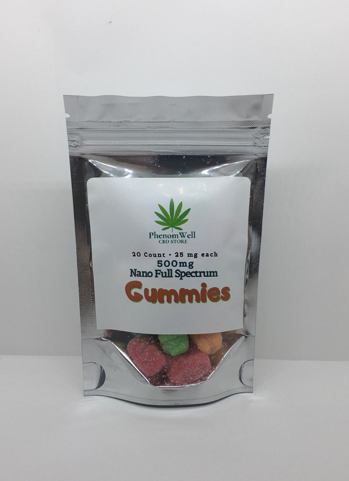 PhenomWell 25mg FS Gummies 20 Count
