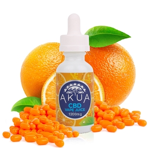 AKUA - Vape juice - Orange Candy 250mg, 600mg, 1200mg