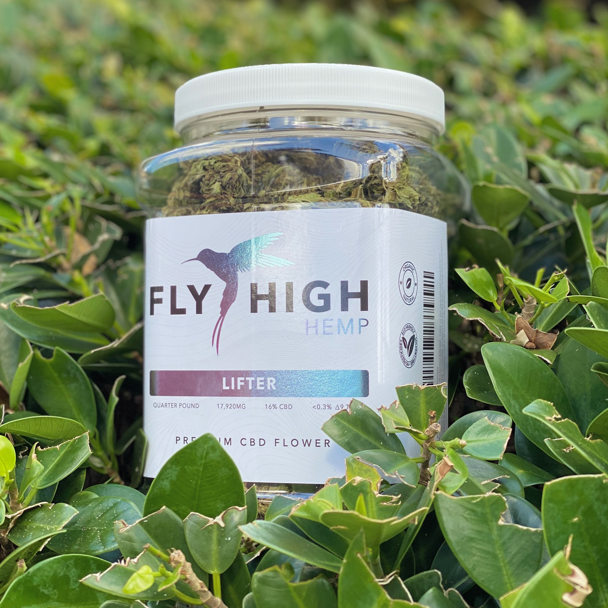 Fly High Hemp CBD Flower Quarter Pound Jars