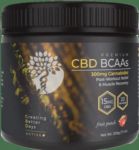 Creating Better Days CBD BCAA's Fruit Punch Drink Mix 300mg