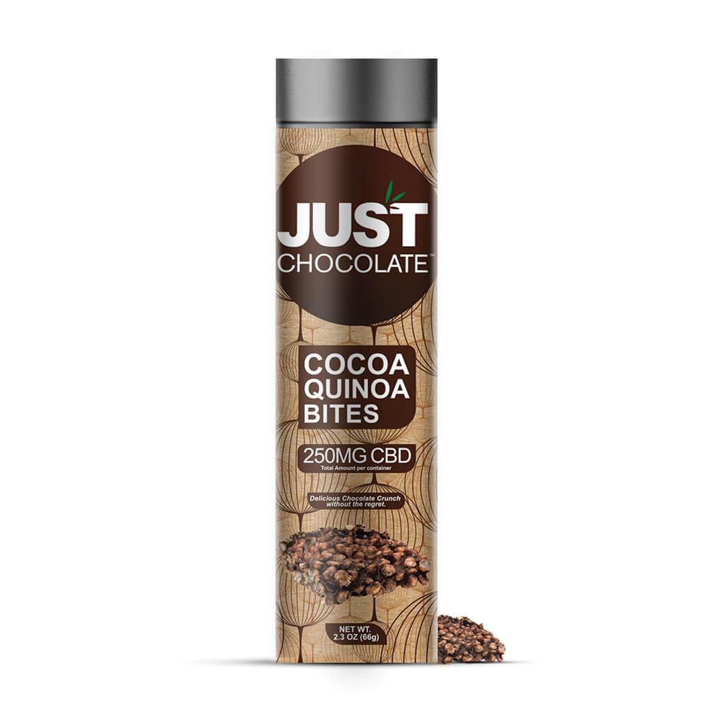 Just CBD Cocoa Quinoa Bites