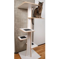 Modern Cat Tower | 5 Tall Baobab Model | Square Cat Habitat