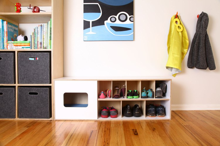 Mouse modern shoe bench with cat home ROOM 1