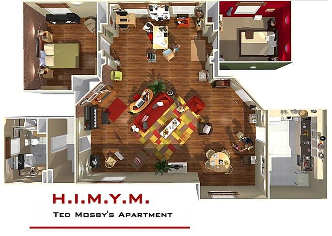 How I Met Your Mothers Wohnung in 3D  HomeByMe