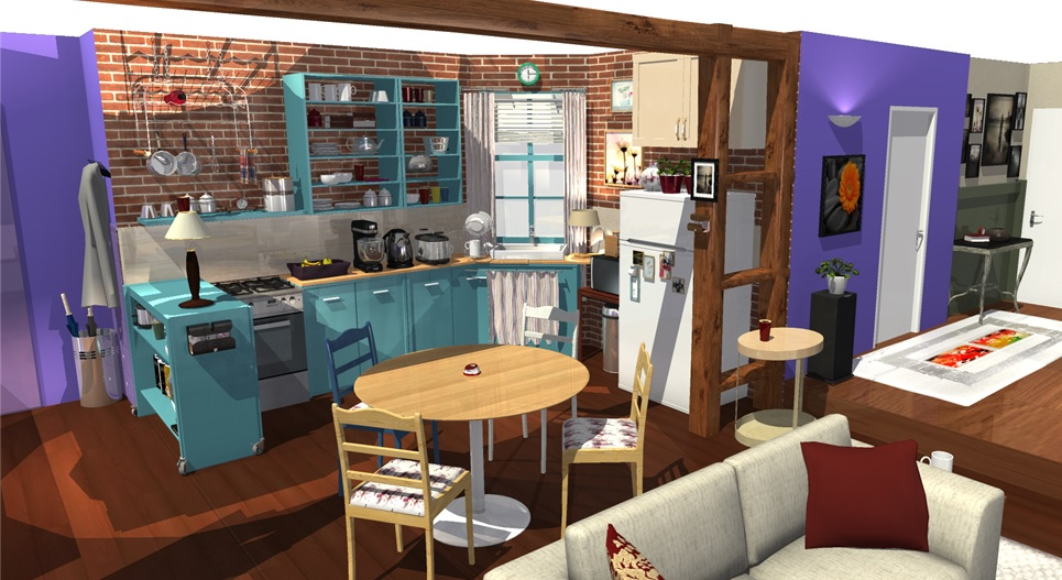 plan 3d cuisine