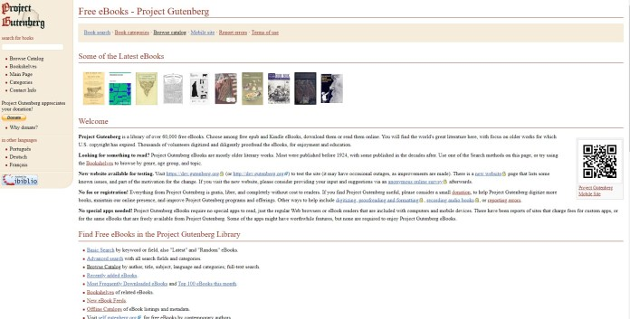 project gutenberg-best place to download old textbooks