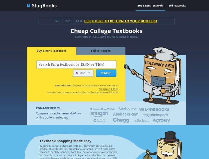 slugbooks search for used and new textbooks