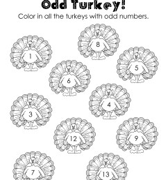 Odd/Even Turkeys (Free worksheet!)   Squarehead Teachers [ 3300 x 2550 Pixel ]