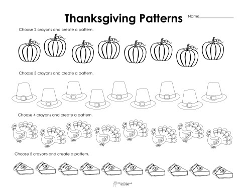 small resolution of Making Patterns: Thanksgiving Style (free worksheet!)   Squarehead Teachers