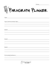 Paragraph planner- simple | Squarehead Teachers