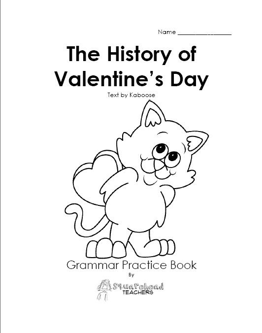 History of Valentine's Day (grammar practice book for