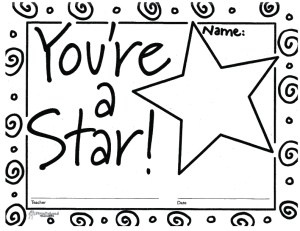 You're A Star (free printable blank certificates) | Squarehead Teachers