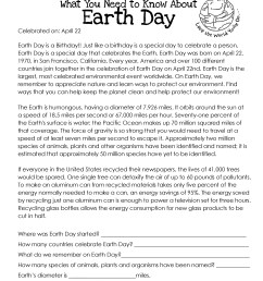 What You Need to Know About Earth Day   Squarehead Teachers [ 3300 x 2550 Pixel ]