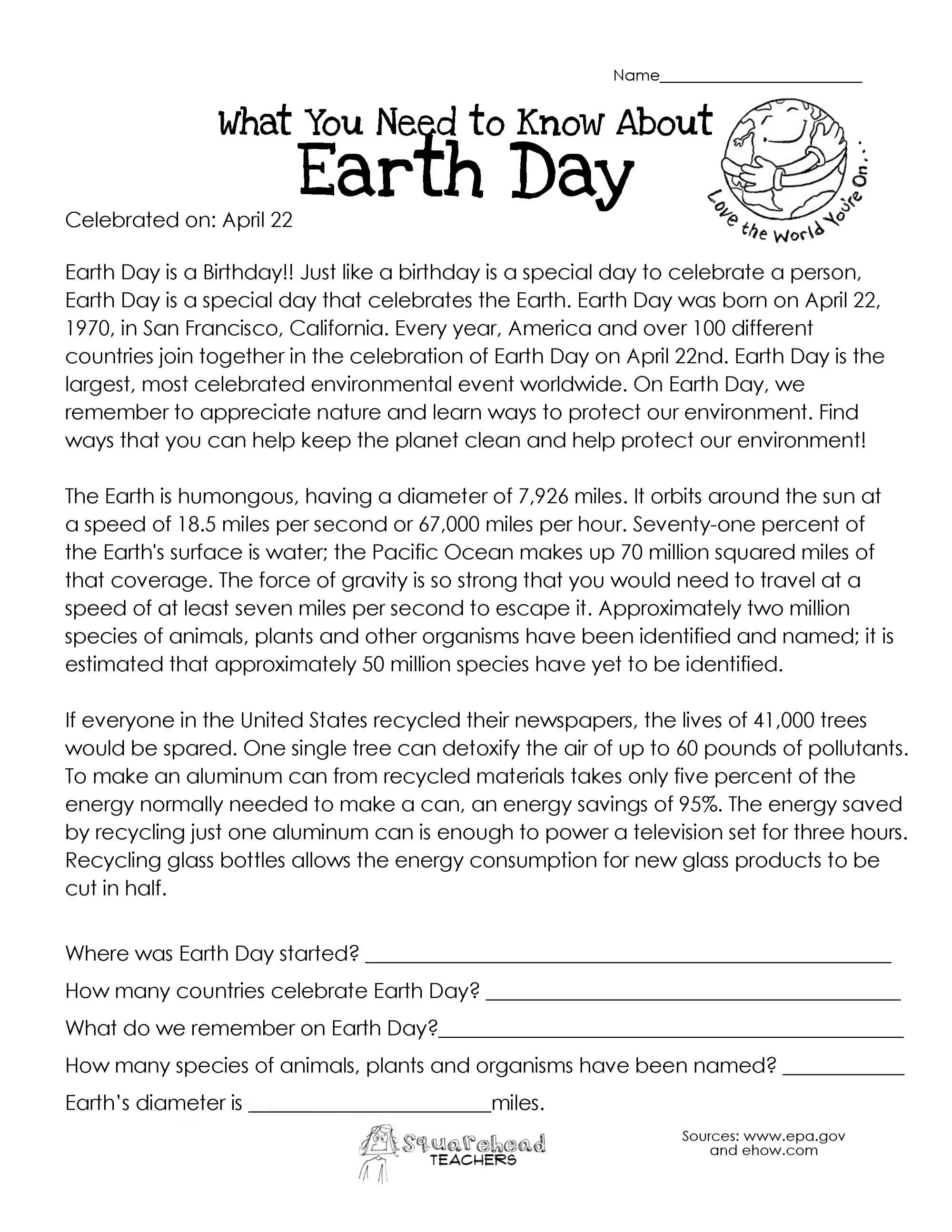 hight resolution of What You Need to Know About Earth Day   Squarehead Teachers