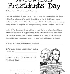 Presidents' Day (free worksheet) UPDATED   Squarehead Teachers [ 3300 x 2550 Pixel ]