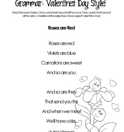 Silly Valentine's Day Poems for Grammar Practice (free worksheets)    Squarehead Teachers [ 3300 x 2550 Pixel ]