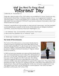 Veterans Day Worksheet UPDATED | Squarehead Teachers