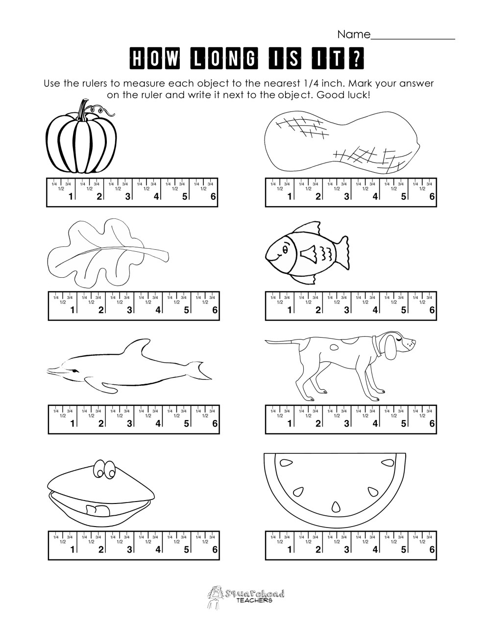 medium resolution of First Grade Measurement Worksheets   Printable Worksheets and Activities  for Teachers