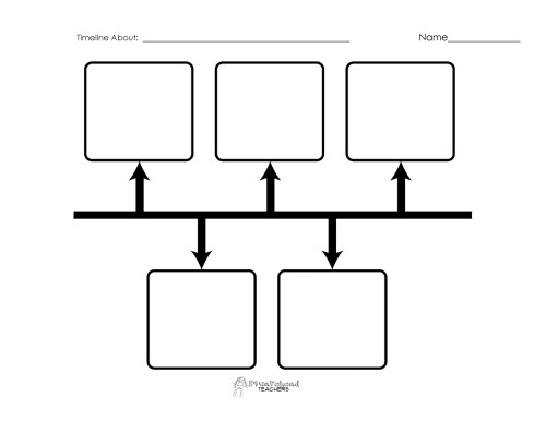 small resolution of Blank Timeline Printables   Squarehead Teachers