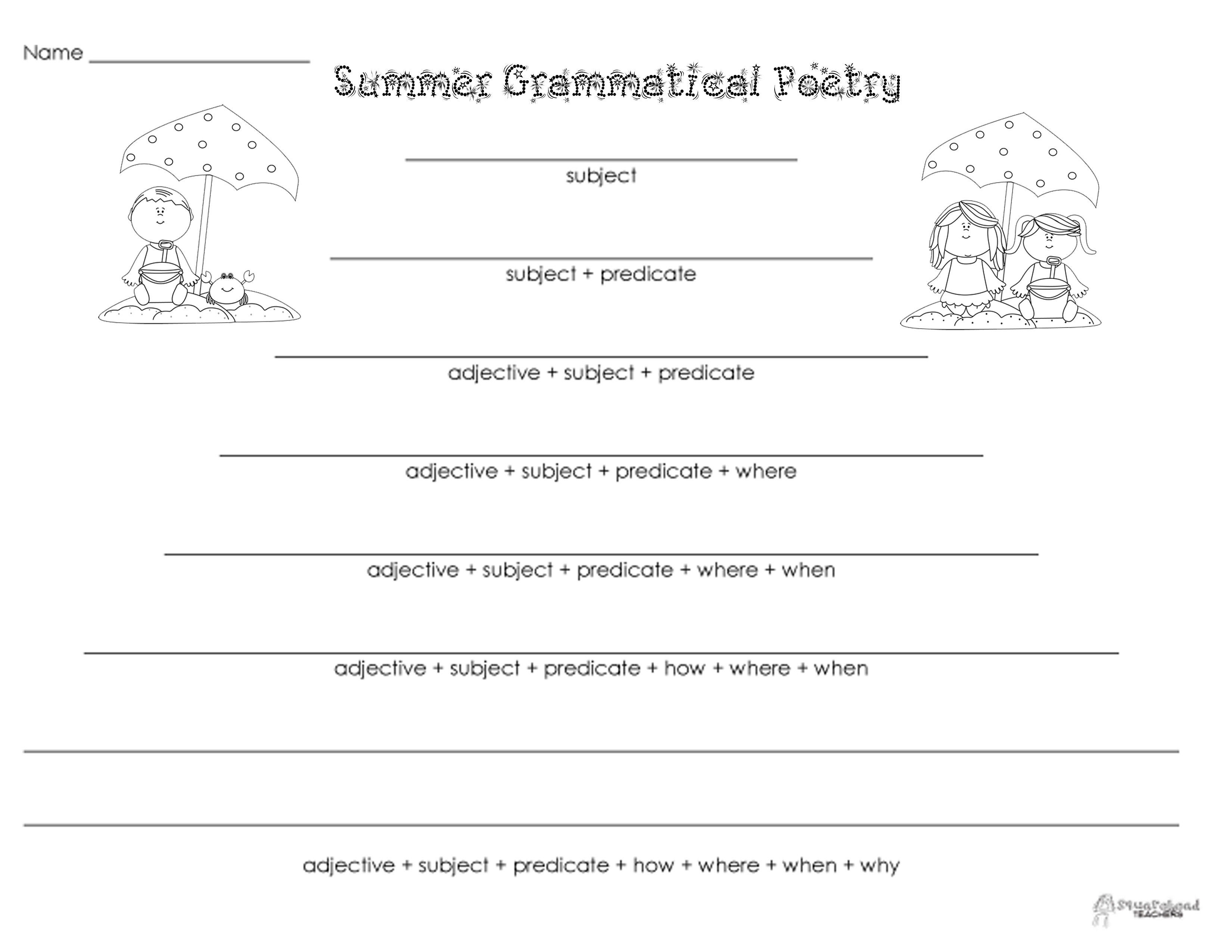 Grammatical Poetry Summer