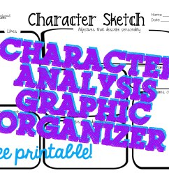 Character Sketch Graphic Organizer   Max Installer [ 2550 x 3300 Pixel ]
