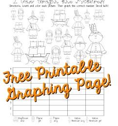 Free Thanksgiving Graphing Worksheet (Kindergarten [ 3300 x 2550 Pixel ]