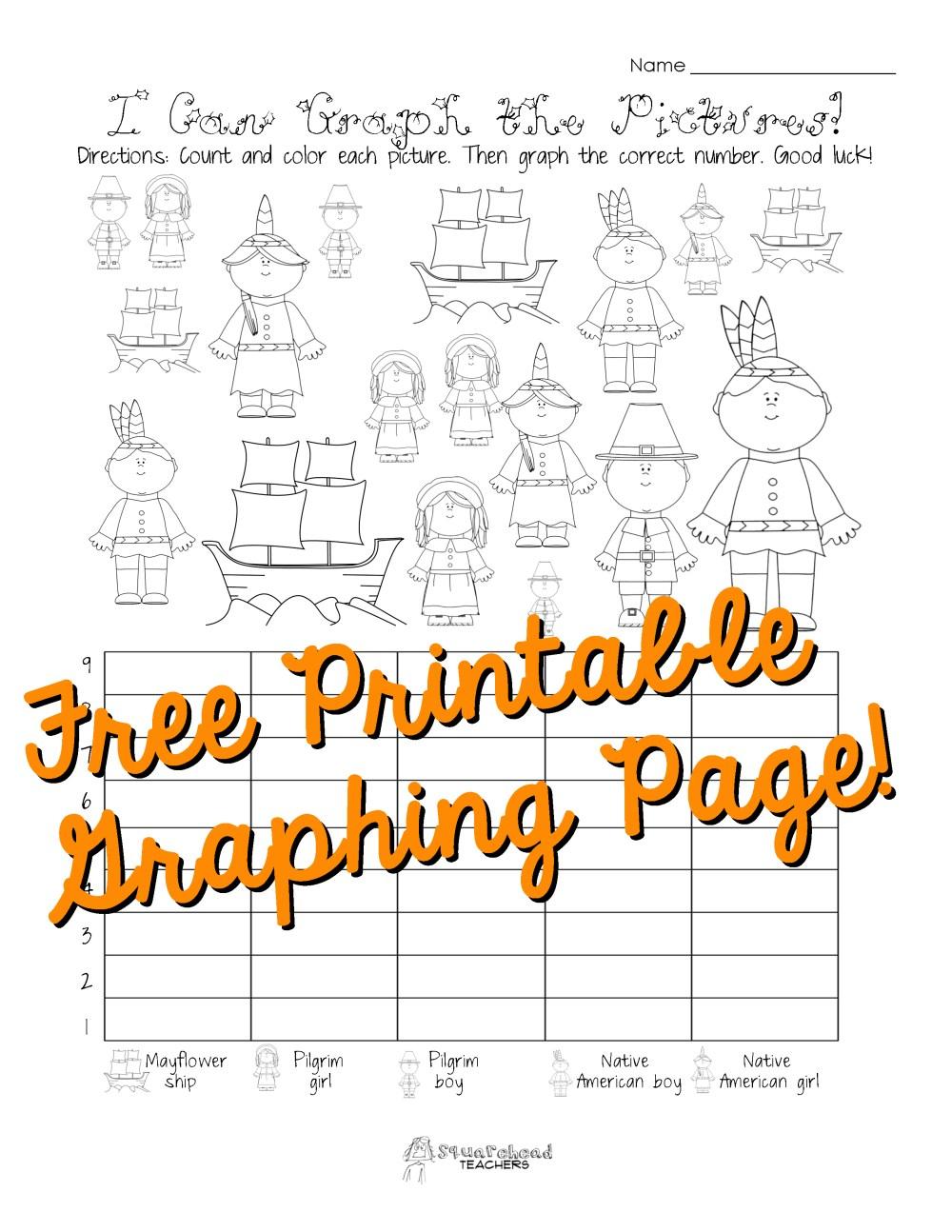medium resolution of Free Thanksgiving Graphing Worksheet (Kindergarten