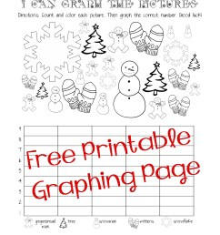 Free Christmas/Winter Graphing Worksheet (Kindergarten [ 3300 x 2550 Pixel ]