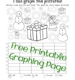 Free Christmas/Winter Graphing Worksheet (Kindergarten [ 3300 x 2550 Pixel ]