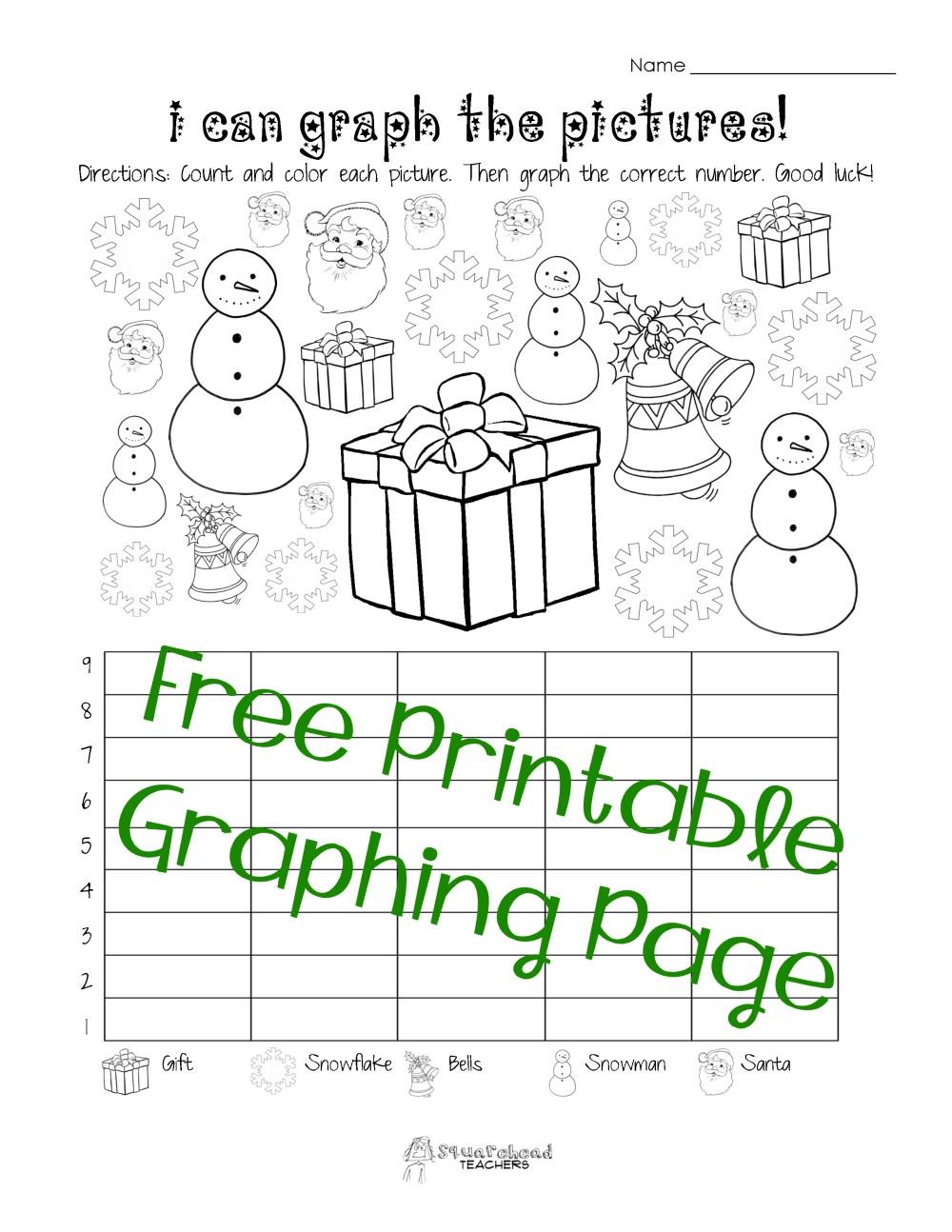 medium resolution of Free Christmas/Winter Graphing Worksheet (Kindergarten