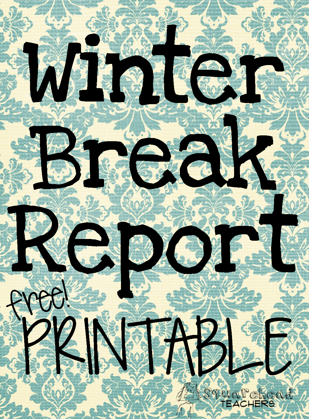 How Was Your Winter Break Report Writing Page