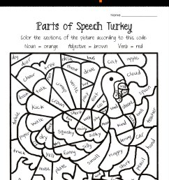 Thanksgiving Parts of Speech Worksheet   Squarehead Teachers [ 2595 x 1687 Pixel ]