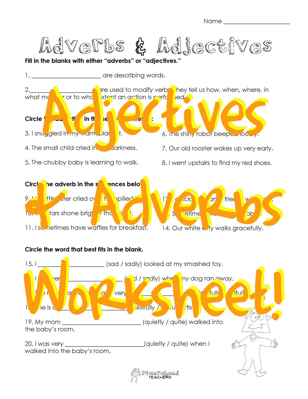 medium resolution of adjectives   Squarehead Teachers