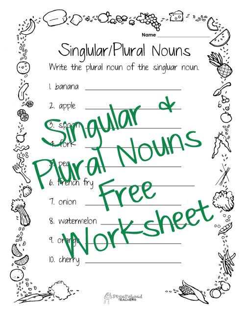 small resolution of Homework Help With Plural Nouns - Plural Nouns And Singular Nouns Homework  Worksheets