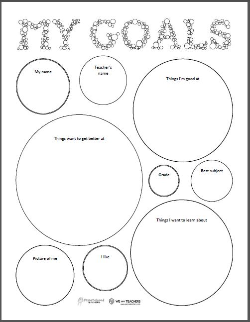 Goal Setting Worksheets For Elementary School Students