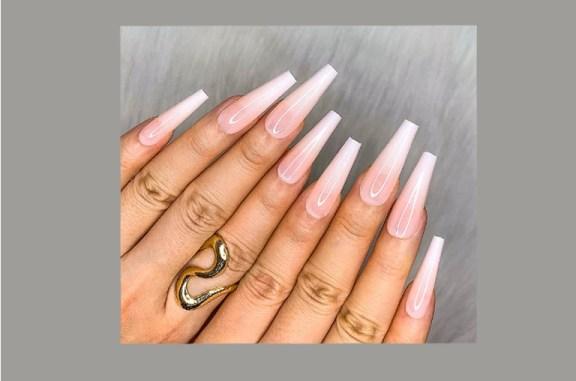 coffin shape nails long