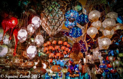 Lanterns for sale in the Grand Bazaar