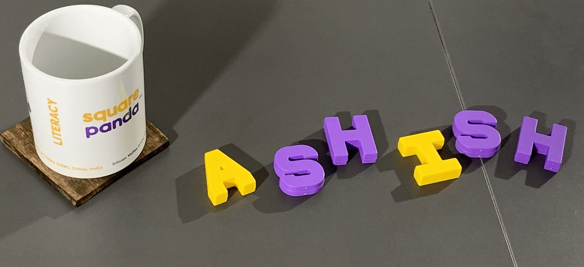 Ashish name spelt out in Smart Letters