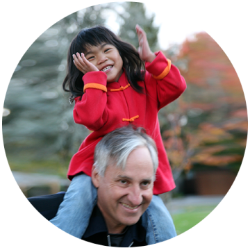 Square Panda CEO Andy Butler and his daughter