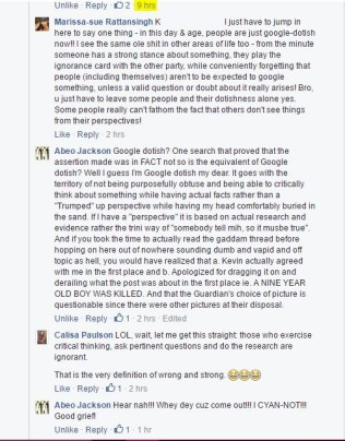 """EIGHT HOURS, y'all. To call people """"Google-dotish"""" and defend a point the original poster had already abandoned."""