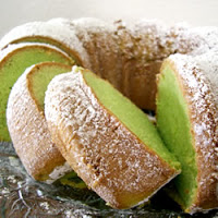 Green Pistachio Bundt Cake or Cupcakes