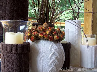 Sweater Vases, Candle Sleeves for Easy Fall and Winter Decor