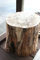 DIY Tree Stump Tables