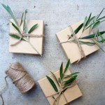 Bits of Greenery on Packages; Photo: Style Files