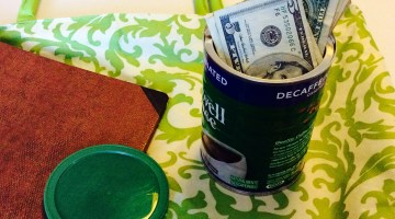 Your Money Kit: A Notebook and a Can!
