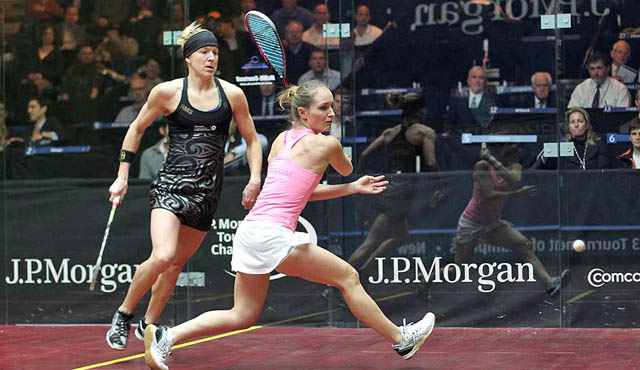 Action from the 2012 final starring Kasey Brown and Natalie Grinham (front)