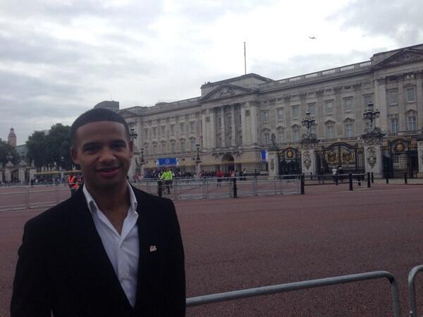 Adrian Grant at Buckingham Palace