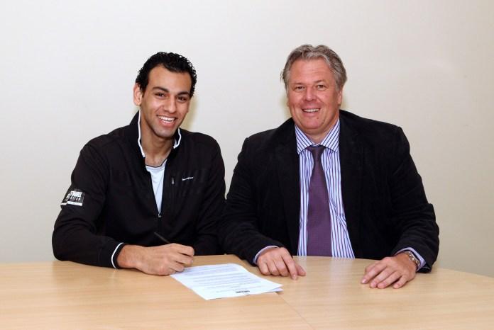 Wolfgang Denk with Courtwall Ambassador Mohamed Elshorbagy